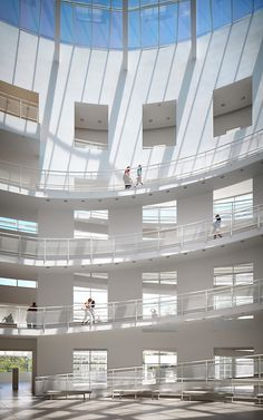 High Museum of Art Atlanta, Georgia Richard Meier Photo © John Muggenborg Richard Meier, Arp Museum, Atlanta Attractions, High Museum, Light And Space, Atrium, Art And Architecture, Atlanta Georgia, Ladder