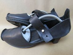 TRIPPEN Germany Art Footwear Black Leather Wedge Heels Shoes Women's 39 US 8 #Trippen #PlatformsWedges #Casual