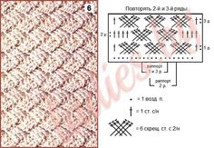 Плетеные узоры крючком