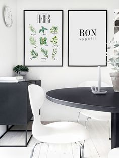 Trendy posters in pairs - Find your perfect pair at Desenio Ikea, Above Couch, Kitchen Posters, Wine Guide, Nordic Interior, Interior Photo, Interior Design Inspiration, Dining Area, Dining Rooms