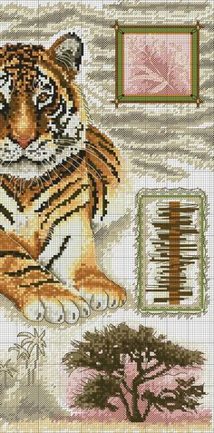 FREE CROSS POINT GRAPHICS: TIGERS (32)