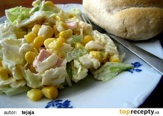 Salat z pekingskeho zeli Baked Potato, Potato Salad, Salads, Potatoes, Chicken, Dinner, Baking, Vegetables, Ethnic Recipes