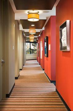 Hall ceiling lighting  Link Dental - Dental Office Design by JoeArchitect in Englewood,