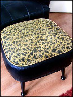 Leopard Print Foot Stool