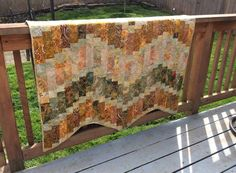 This custom wavelet quilt was made out of batiks and was given as a wedding present.
