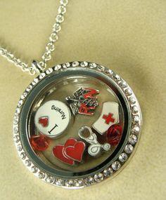 Nurse Floating Glass Locket Necklace