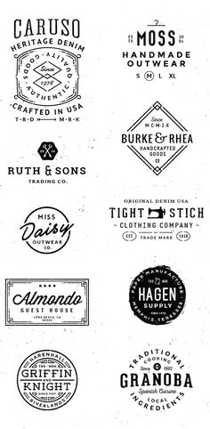 Logo/Badge Templates Vol.2 on Behance. #Logo #Branding #Identity #Badge #Vintage