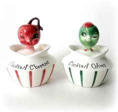 Vintage Lefton Cocktail Jars