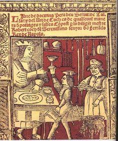 El Llibre de totes maneres de potatges de menjar, més conegut com a Llibre de Sent Soví, (1324) és un receptari medieval d'autor anònim redactat en català. Medieval Life, Medieval Art, Renaissance Art, Illuminated Letters, Illuminated Manuscript, Isabella Of Castile, Medieval Banquet, Montserrat, Medieval Manuscript