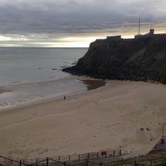 Tynemouth king Edwards bay beach 7.45 am 8th March 2015 www.tynemouthwebcam.com