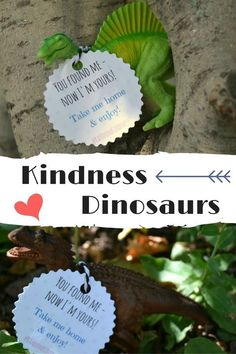 Leaving toy dinosaurs at the playground for kids - a random act of kindness the whole family can enjoy! (with free printable tags) Kindness For Kids, Kindness Elves, Teaching Kindness, Kindness Activities, Random Acts Of Kindness Ideas For School, Service Projects For Kids, Community Service Projects, Service Ideas, Service Club