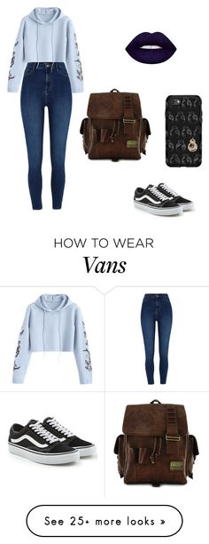 """Untitled #275"" by marie-g05 on Polyvore featuring River Island, Vans, Loungefly and OtterBox"