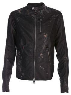DIESEL BLACK GOLD - splatter biker jacket 7