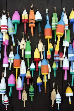 Colorful Lobster Buoys by ryotnlpm, via Flickr