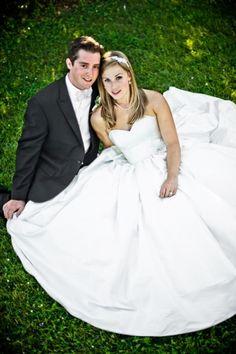Elena in a silk dupioni ball gown. Beautiful and classic!