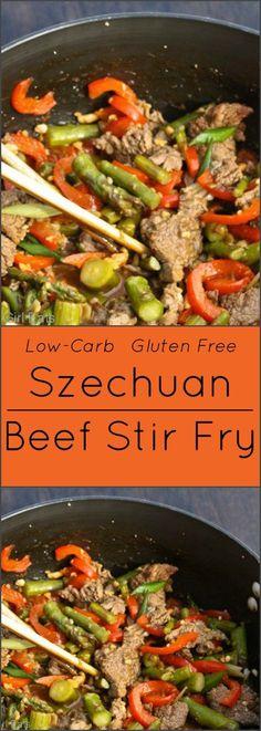 Szechuan Beef Stir Fry. Gluten free.