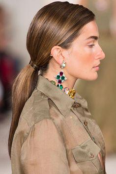 Spring/ Summer 2015 Trendy Ponytail Hairstyles: Ralph Lauren Straight Long Ponytails #ponytails #hairstyles #hair