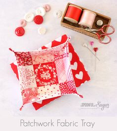Patchwork Fabric Tray