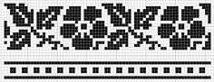 Would work for stranded knitting source:Border 32 | gancedo.eu