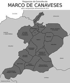 Freguesias do concelho de Marco de Canaveses