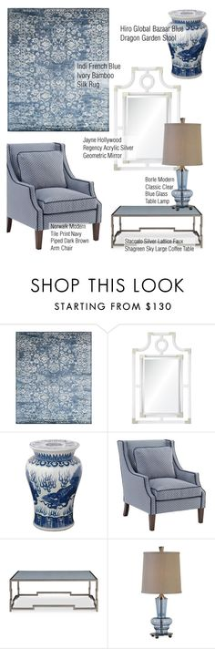 """Blue & White"" by kathykuohome ❤ liked on Polyvore featuring interior, interiors, interior design, home, home decor, interior decorating, Staccato, Home and homedecor"