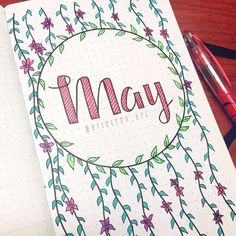 Spring is in the air and here to inspire your bujo obsession are 101 May cover page ideas you're going to love! is in the air 101 Pretty May Bullet Journal Cover Page Ideas - Bliss Degree Bullet Journal 2018, Bullet Journal Cover Page, Bullet Journal Spread, Bullet Journal Layout, Journal Covers, Bullet Journal Inspiration, Journal Pages, Journals, Bullet Journal Ideas Handwriting