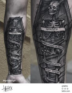 "Robert Borbas Tattoo - Nametsi Ambulavero in Valle Umbraemortis non Timebo | ""Though I walk through the valley of the shadow of death, I will fear no evil"""