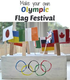 Celebrate the Olympics with a flag festival! {+free printable flag template}