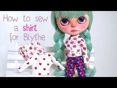 how to sew a shirt for Blythe Dolls / Wie näht man ein Shirt für Blythe Puppen - YouTube