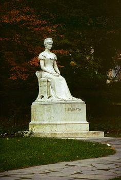 A statue of Empress Elisabeth, located in Merano, Italy.