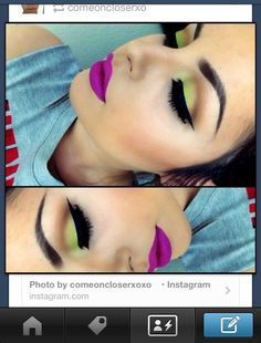 Green eyeshadow. Makeup