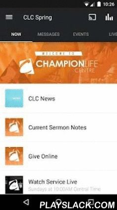 Champion Life Centre  Android App - playslack.com ,  Download this free app to stay informed and up to date with service & location information, audio & video messages from our Senior Pastor James Green, links to our live stream, as well as to submit prayer requests, view upcoming events, give online, join a life group & more!Champion Life Centre, also known as CLC Spring, is located in Spring, TX just north of the city of Houston and south of The Woodlands.Champion Life Centre…