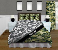 Boys Camo or Camouflage Bedding