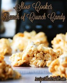 This Slow Cooker Bunch of Crunch Candy is so good that it is addictive. These slow cooker candies would make the perfect gifts for the holidays or for a little treat throughout the year.