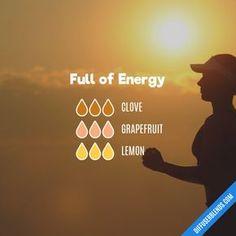 Full of Energy - Essential Oil Diffuser Blend