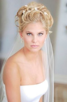 Wedding Hairstyle with Veil and Tiara 2012 Photos 1
