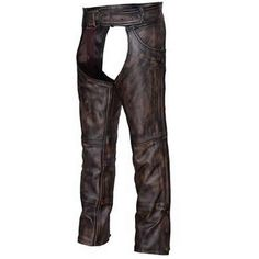 Unik unisex distressed Nevada brown leather motorcycle chaps are unisex with distressed, rubbed brown accents for men & women bikers & motorcycle riders. Emo Dresses, Party Dresses, Fashion Dresses, Unisex Fashion, Punk Fashion, Style Fashion, Motorcycle Chaps, Leather Men, Leather Pants