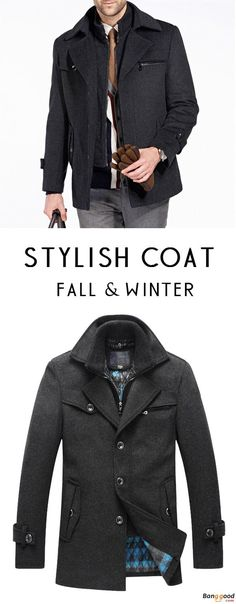 US$98.78 + Free Shipping. Autumn Coat, Winter Coat, Men's Coat, Wool Jacket, Coat Suit Stand, Collar Thick Coat. Fabric: 50% Wool + 50% Polyester Fiber. Keep You Warm All Day Long.