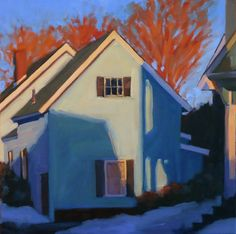 """""""Green House on Laurel Street,"""" by Melissa Anne Miller, oil on canvas, 16 x 16, $1800"""