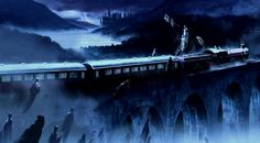 The Dementors stopping The Hogwarts Express