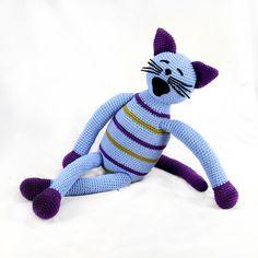 becky   purple and green striped light blue plush by pattihaskins
