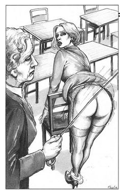 Spanking art drawings question