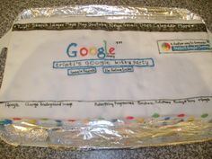 Google themed cake for my Google themed party