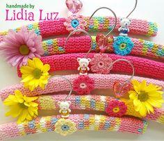 """""""Crochet Hanger Covers"""" by Lidia Luz...so friggin' cute!"""