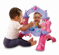 Pink Musical Mirror Baby Girl's Play Toy Disney Princess by Fisher-Price