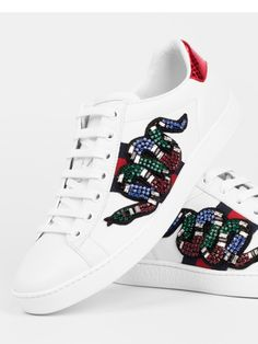 Gucci  Ace Snake embroidered low-top sneaker