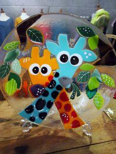glasskål med giraffer