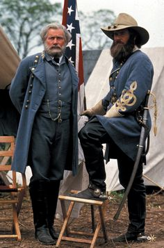 Martin Sheen and Tom Berenger as Lee and Longstreet in Gettysburg, 1993