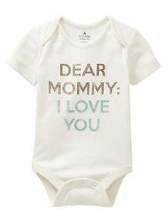 Favorite Mommy & Daddy love bodysuit   Gap