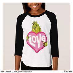 The Grinch | Love. Producto disponible en tienda Zazzle. Vestuario, moda. Product available in Zazzle store. Fashion wardrobe. Regalos, Gifts. #camiseta #tshirt
